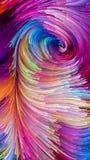 Versnelling van Kleurrijke Verf royalty-vrije illustratie