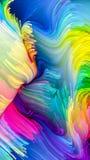 Versnelling van Vloeibare Kleur vector illustratie
