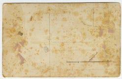 Verso antigo do cartão Imagens de Stock