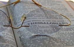 Verso da Bíblia foto de stock