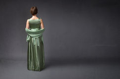 Verso da mulher elegante imagens de stock royalty free