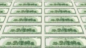 Verso 100 da perspectiva das notas de dólar 3d Foto de Stock