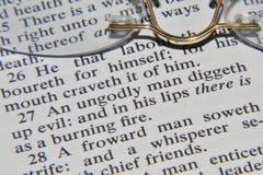 Verso de la biblia imagen de archivo libre de regalías