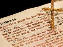 Verso della bibbia Immagine Stock