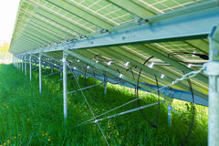 Verso do painel solar Fotografia de Stock