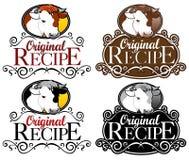 Versão original da carne do selo da receita Fotos de Stock Royalty Free