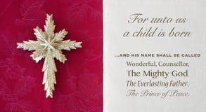 Verso y estrella de la biblia de la Navidad Foto de archivo libre de regalías