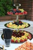 Versorgendes Menü der frischen Früchte Stockbild