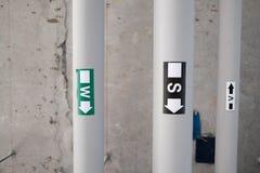 Versorgungs-Wasser-und Abwasserrohr-System Stockbilder