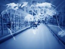 Versorgungskette-Management-Konzept, Kopien-Raum Lizenzfreie Stockbilder