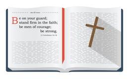Versos da Bíblia sobre estar no protetor ilustração do vetor