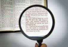 Versos de la biblia Fotografía de archivo