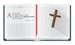 Versos de la biblia sobre las riquezas de dios Foto de archivo libre de regalías