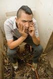 Verspilde Aziatische punker royalty-vrije stock fotografie