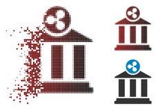 Versplinterd de Bankpictogram van de Pixel Halftone Rimpeling vector illustratie