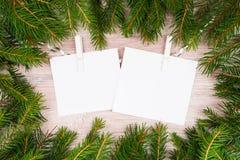 Verspotten Sie herauf, mit Tannenzweigen, Weihnachten, neues Jahr Lizenzfreie Stockfotos