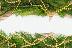 Verspotten Sie herauf, mit Tannenzweigen, Weihnachten, neues Jahr Stockfotos