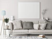 Verspotten Sie herauf Plakat, skandinavisches Hintergrunddesign, der gefärbte Pastell lizenzfreie abbildung