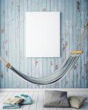 Verspotten Sie herauf Plakatrahmen im Sommerkonzeptäußerhintergrund Stockfotografie