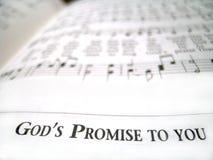 Versprechung des Gottes zu Ihnen Stockfotos