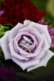 Versprechungen in einer Rose Stockbilder