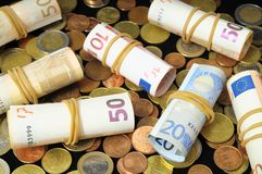Verspreid Geld Stock Afbeelding
