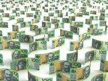 Verspreide Australische Dollar Stock Foto