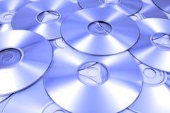 Verspreide Compact-discs Stock Fotografie
