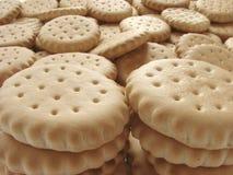 Verspreide crackers Royalty-vrije Stock Afbeelding