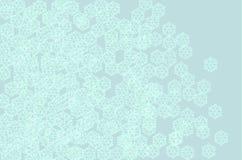 Verspreide de kunstachtergrond van sneeuwkristallen Royalty-vrije Stock Afbeelding