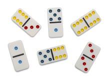 Verspreide domino's Stock Fotografie