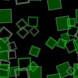 Verspreide Groene Vierkanten Stock Fotografie