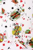 Verspreide kaartenachtergrond Royalty-vrije Stock Foto