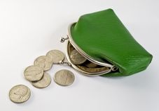 Verspreide muntstukken Stock Fotografie