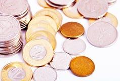 Verspreide muntstukken Stock Afbeelding