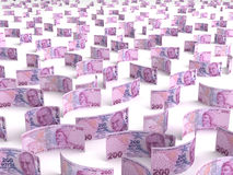 Verspreide Turkse Lire Royalty-vrije Stock Foto's
