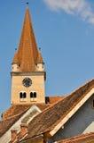 Verstärkte Kirche in Cisnadie Stockfotos