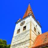 Verstärkte mittelalterliche sächsische Kirche im Dorf Cincu, Grossschenk, Siebenbürgen, Rumänien Lizenzfreie Stockbilder