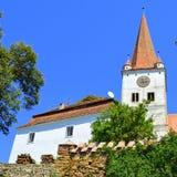 Verstärkte mittelalterliche sächsische Kirche im Dorf Cincu, Grossschenk, Siebenbürgen, Rumänien Stockfotografie