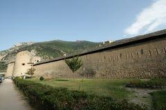 Verstärkte Stadt von Villefranche de Conflent, Frankreich lizenzfreie stockfotografie
