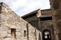 Verstärkte Stadt von Villefranche de Conflent in Pyrenäen Orientales, Frankreich lizenzfreies stockfoto