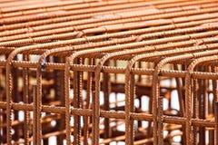 Verstärkte Stahlgestänge Stockfotografie