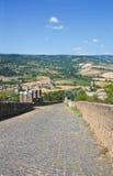 Verstärkte Wände. Orvieto. Umbrien. Italien. lizenzfreie stockbilder