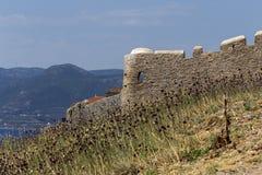 Verstärkter Stadt Monemvasia-Laconia, Griechenland, Peloponnes lizenzfreie stockbilder