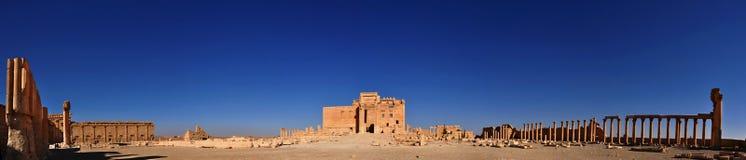 Verstärkter Tempel des Bels/Baal Shamin im Palmyra, Syrien Stockfotografie