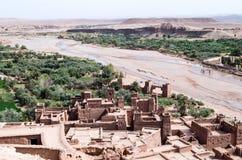 Verstärktes Dorf Ait Benhaddou von der Spitze Lizenzfreies Stockfoto