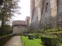 Verstärkungen von Mont Saint-Michel, Normandie, Frankreich Lizenzfreies Stockfoto