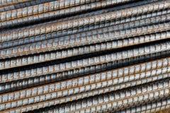 Verstärkungs-Stahlstangenhintergrund Lizenzfreie Stockfotos