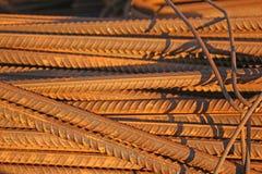 Verstärkungsstahlstangenstangen stockfoto