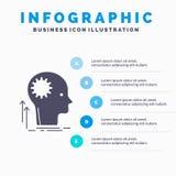 Verstand, kreativ, Denken, Idee, Infographics-Schablone f?r Website und Darstellung gedanklich l?send Graue Ikone des GLyph mit B vektor abbildung
